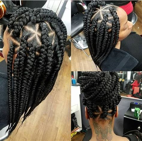 triangle parts natural hair 17 best ideas about colored box braids on pinterest grey