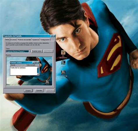 themes for windows 7 superman superman returns desktop theme free download