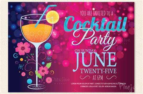 17 stunning cocktail party invitation templates designs