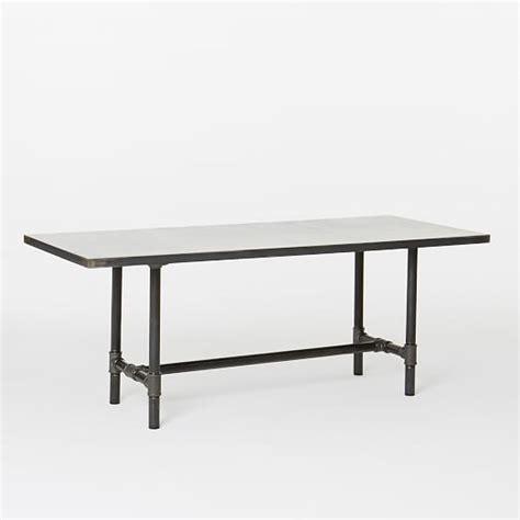Workshop Table by Design Workshop Metal Top Table West Elm
