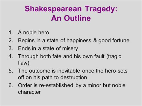 Shakespeare S Tragic In Macbeth by Shakespeare And Tragedy Ppt