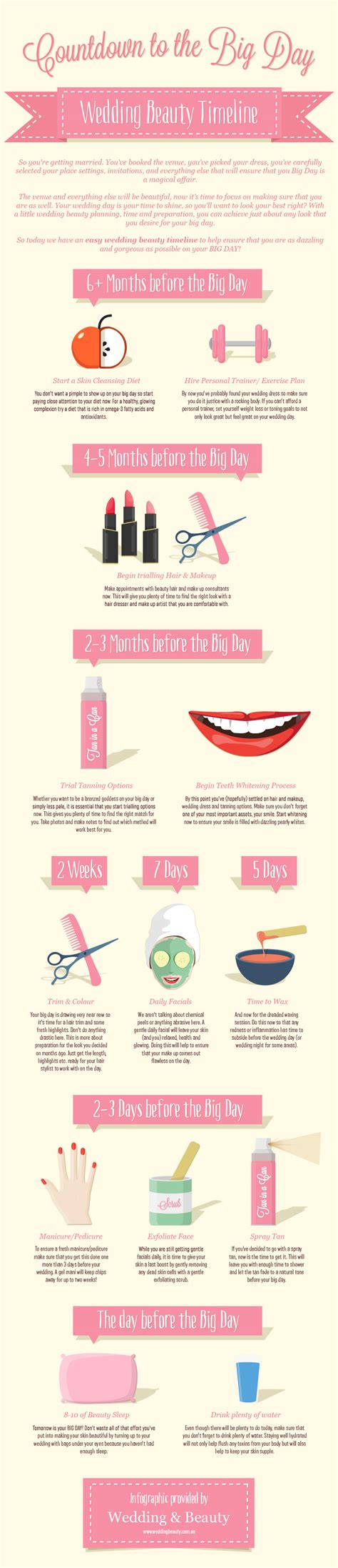 Plan Your Wedding by Great Wedding Day Plan 4 Beautiful Infographics To Help