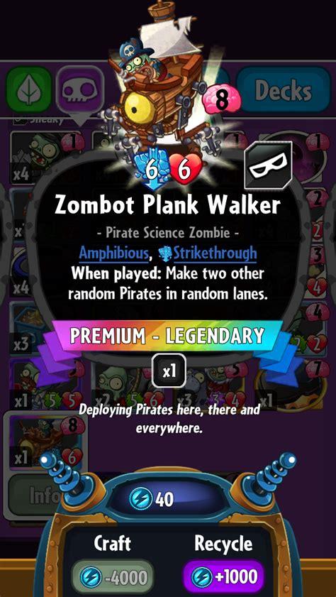 Pvz Hereos Card Template by Zombot Plank Walker Plants Vs Zombies Heroes Plants
