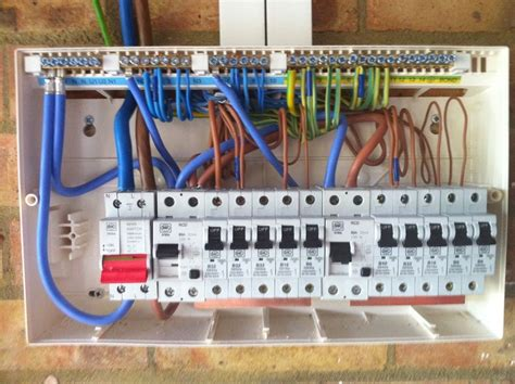 wiring a garage consumer unit diagram consumer unit wiring