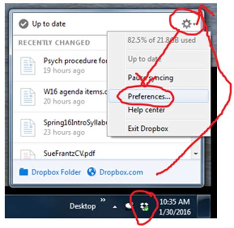 dropbox not in system tray dropbox selective sync technology for academics