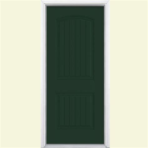 Masonite Cheyenne Interior Doors Masonite 36 In X 80 In Cheyenne 2 Panel Painted Smooth Fiberglass Prehung Front Door With No