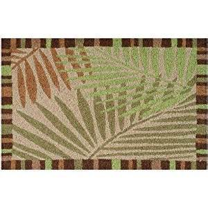 Patio Rugs Amazon amazon com jellybean tropical leaves indoor outdoor rug