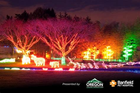 Here Are The Best 13 Places In Oregon To See Christmas Zoo Lights Oregon Zoo