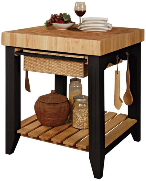 Powell Color Story Black Butcher Block Kitchen Island Kitchen Appliances Feel The Home Part 3