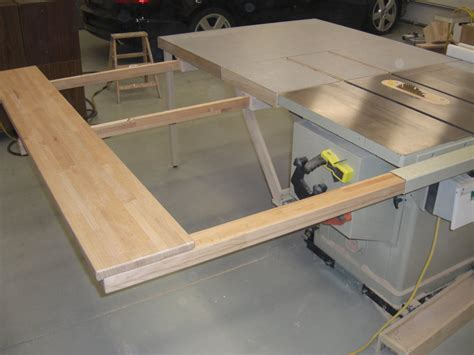 table saw plans folding sliding table saw extension wing by