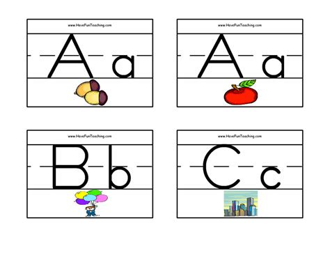 printable alphabet letter cards alphabet flash cards pictures zaner bloser