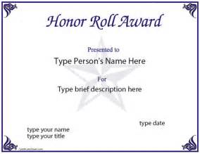 free honor roll certificate template education certificates honor award
