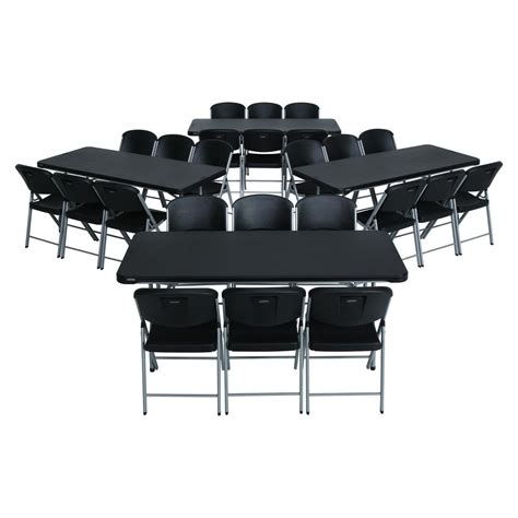 table and chair set lifetime 28 black folding table and chair set 80440