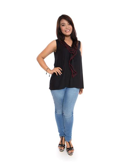 Mikayla 165 Size Dan Xxxl sweet ruffle black big size fashion