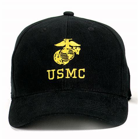 black united states marine corps baseball hat