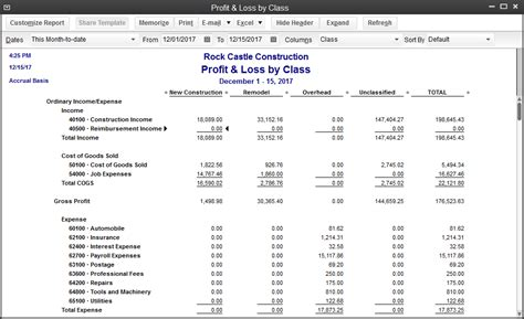 profit and loss report sle qodbc desktop how to run a profit and loss by class