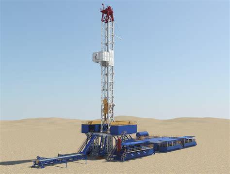 drilling rig image land rig site 1 3d animation oil drilling rig 3d model