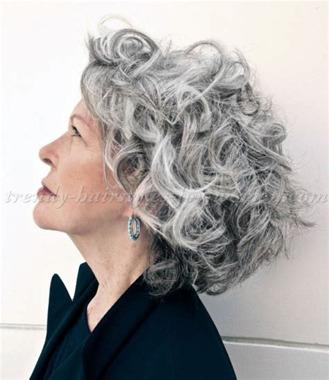 hairstyles for thick grey wavy hair shoulder length hairstyles over 50 curly hairstyle for