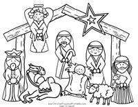 small nativity coloring page nativity printable play set
