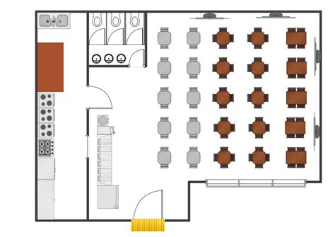 Cafe Floor Plan caf 233 floor plan design software professional building