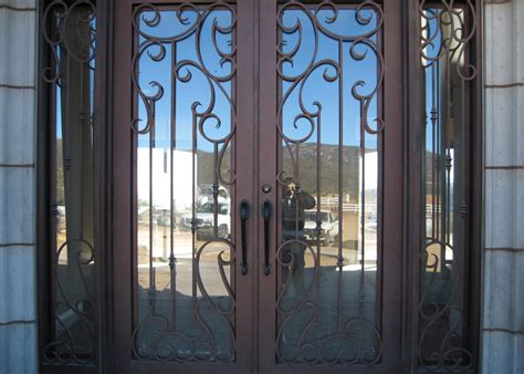 courtyard wine room security screen entry glass