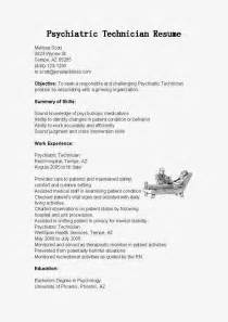 resume samples psychiatric technician resume sample