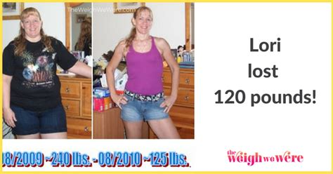 h weight loss lori 120 pounds lost weight loss transformation h the