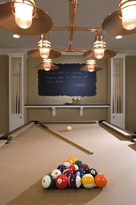 game room wall decor ideas chalkboard wall design basement traditional with cue rack