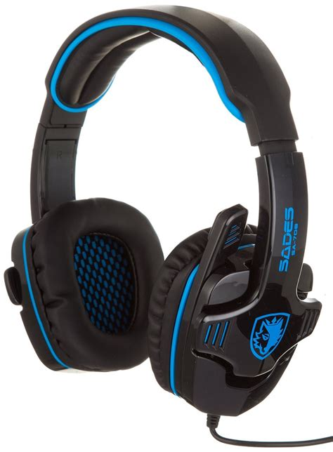 Headset Gaming Sades Sa 708 sades sa 708 stereo gaming headphone headset with microphone blue ebay