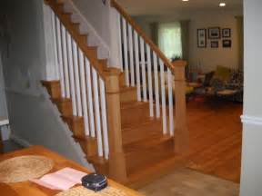 Wood Railings For Stairs Interior Replace Wood Railings Ashburn Precision Interior Rails