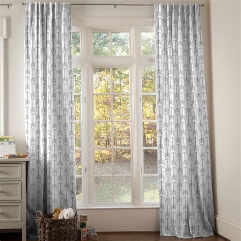 Navy And Gray Deer Nursery Decor Carousel Designs Curtain For Nursery