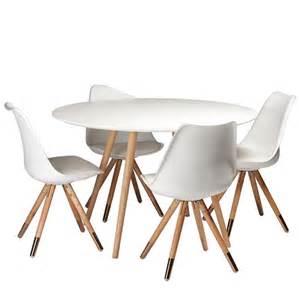 table de cuisine ronde blanche sur cdc design