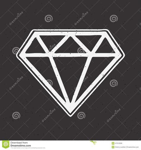 diamond tattoo vector diamond hand drawn old school tattoo stock vector