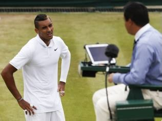 nick kyrgios crumbles, rages with umpire, hugs ball boy gq