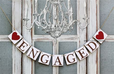 Wedding Banners Australia by Engaged Banners Engagement Banners Rustic Engagement