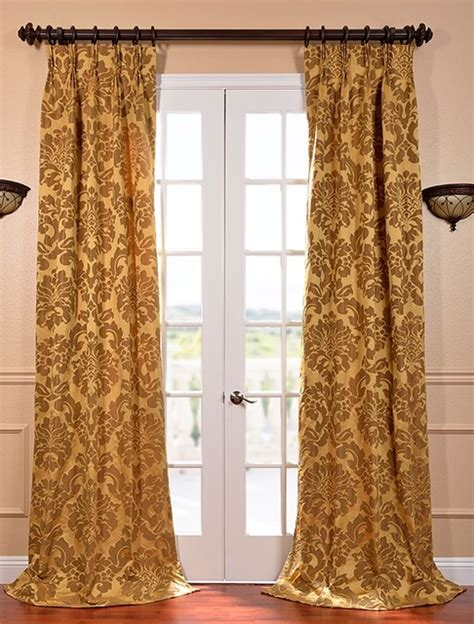 bronze curtain astoria gold bronze french pleat faux silk jacquard