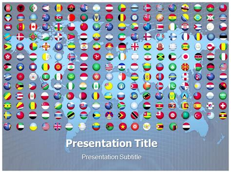 Flags Of The World Buttons Powerpoint Template World Flags Button Ppt Template Flags Of The Flags Of The World Powerpoint