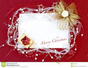 card with decoration on background stock