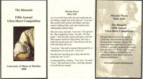 the doll s house short story short story quot baby doll quot micaela myers