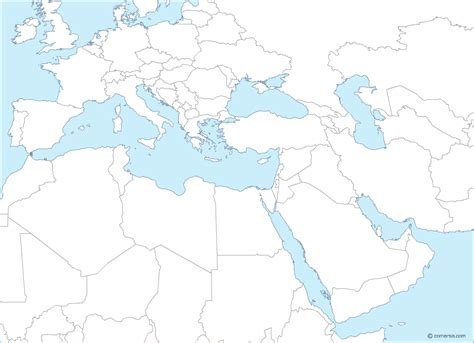 europe middle east vector map europe and middle east free editable base map