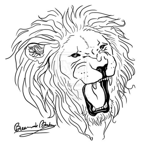 lion outline tattoo ideas and designs page 5