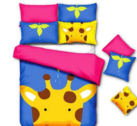 Cartoon reindeer/kids animal bedding/animal print bedding