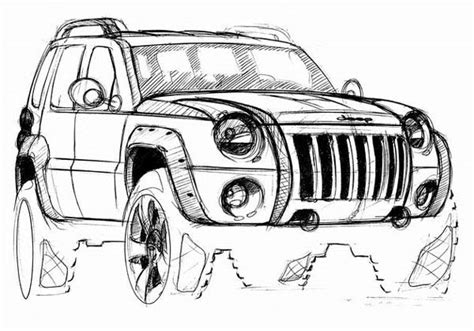 jeep liberty coloring pages how to drawing jeep coloring pages