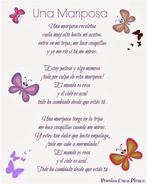 imagenes con mariposas y reflexiones cuca piruca la mariposa poesias personalizadas poes 237 a