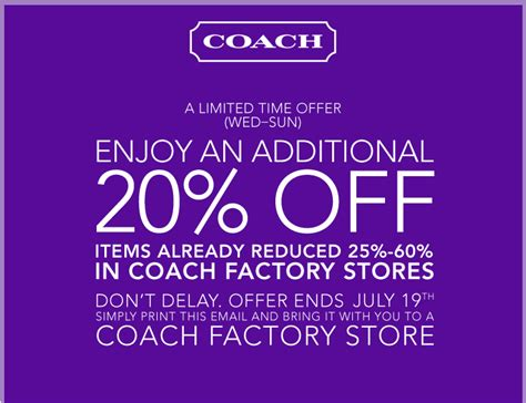 printable coupons for coach outlet coach factory outlet printable coupons may 2015