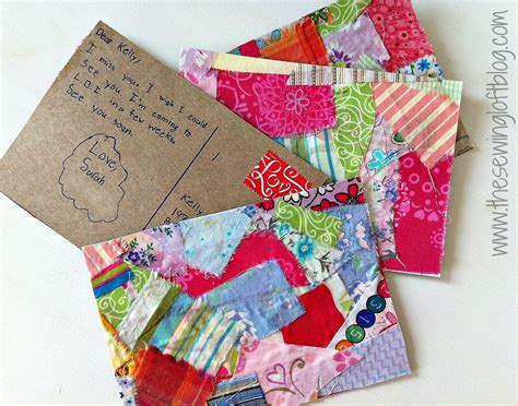 fabric crafts fabric post cards at skip to my lou craft c the