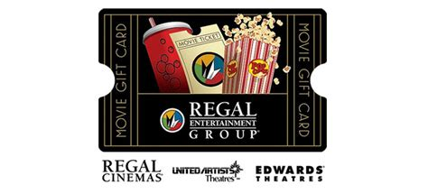 Movie Gift Cards - 12 50 for 25 regal movie gift card
