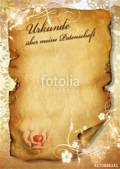 Word Vorlage Urkunde Schriftrolle quot vorlage f 252 r patenurkunde patenbrief f 252 r patentante