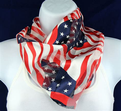 banners waving womens scarf 4th july flag patriotic scarfs