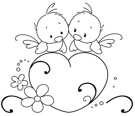 coloring pictures of lovebirds love bird template az coloring pages